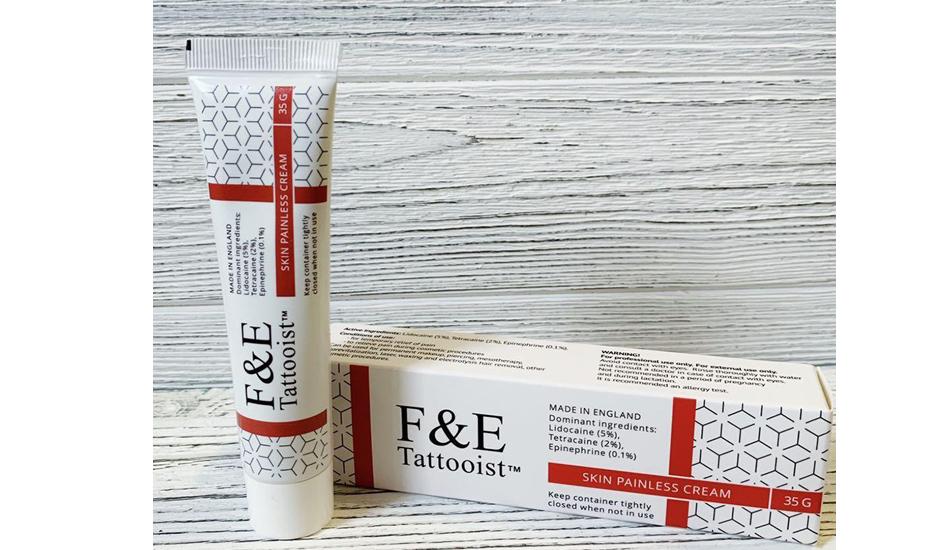 F&E Tattooist RED Skin Painless Cream, 35g