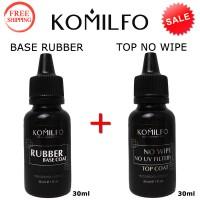 KOMILFO Base Rubber 30ml. + Top No Wipe 30ml. (thin nose)