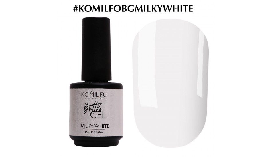 KOMILFO Bottle Gel Milky White, 15ml.