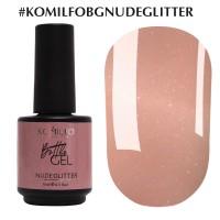 KOMILFO Bottle Gel Nude Glitter, 15ml.