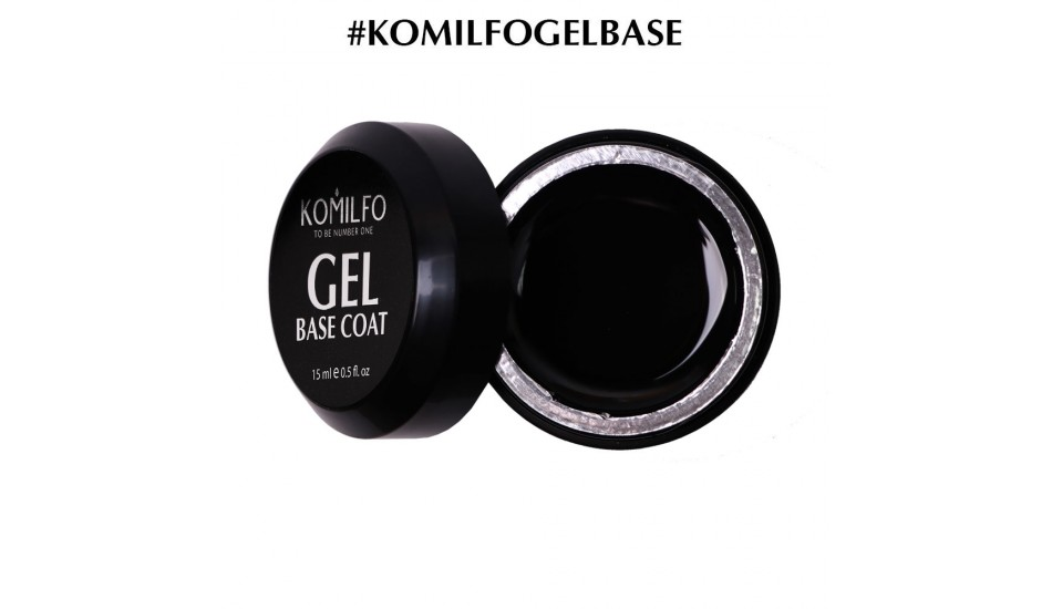 KOMILFO Gel Base Coat, 15ml. (without brush)