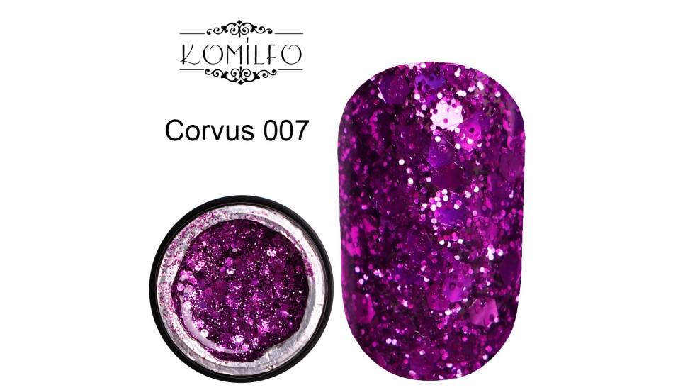 Komilfo Star Gel №007 Corvus, 5 ml