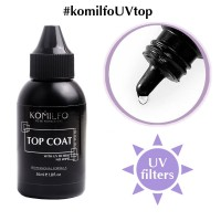 KOMILFO Top No-Wipe With UV Filters, 50ml.