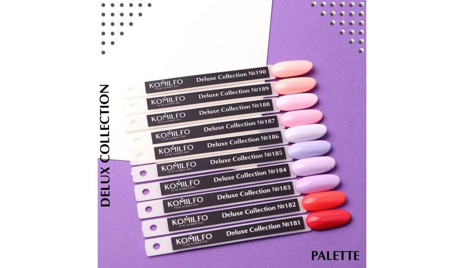 Komilfo Deluxe Series gel polish Palette №181-190 (To view - NOT for Sale!)