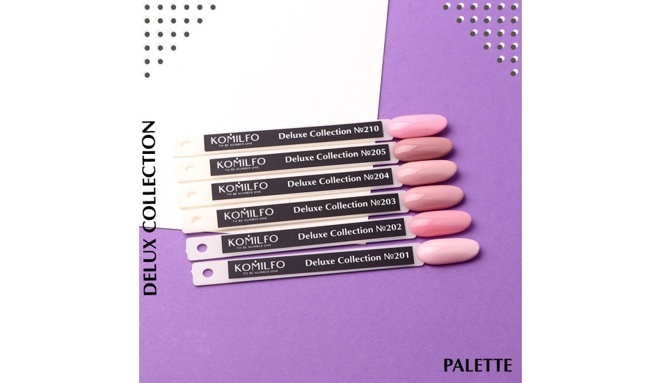 Komilfo Deluxe Series gel polish Palette №201-210 (To view - NOT for Sale!)