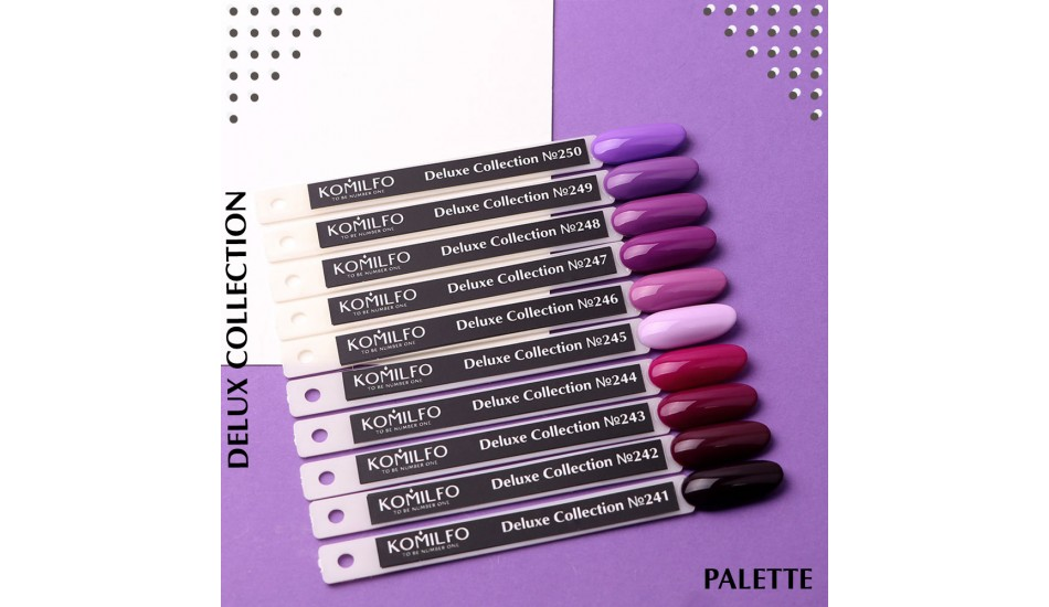 Komilfo Deluxe Series gel polish Palette №241-250 (To view - NOT for Sale!)