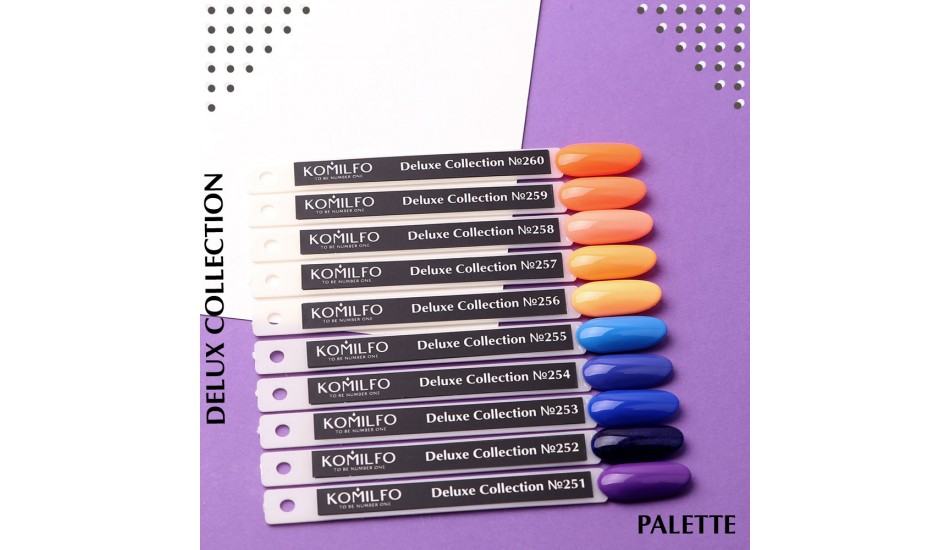 Komilfo Deluxe Series gel polish Palette №251-260 (To view - NOT for Sale!)