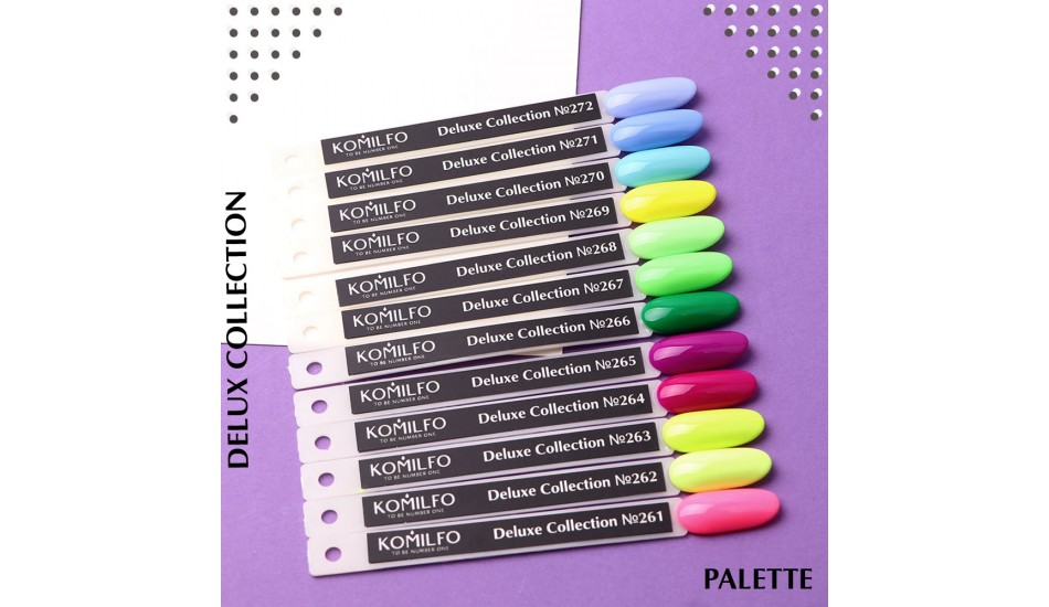 Komilfo Deluxe Series gel polish Palette №261-272 (To view - NOT for Sale!)
