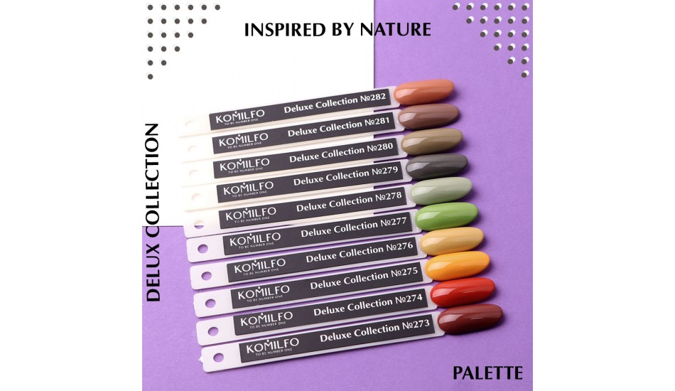 Komilfo Deluxe Series gel polish Palette №273-282 (To view - NOT for Sale!)