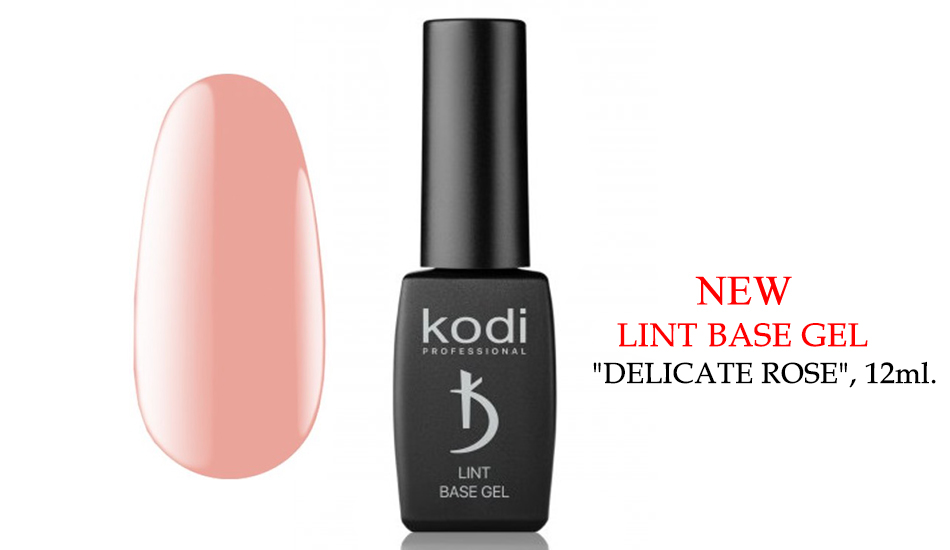 "Kodi Lint base gel ""Delicate Rose"", 12ml."