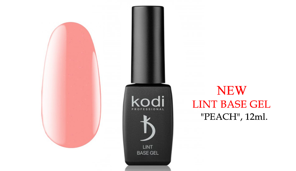 "Kodi Lint base gel ""Peach"", 12ml."