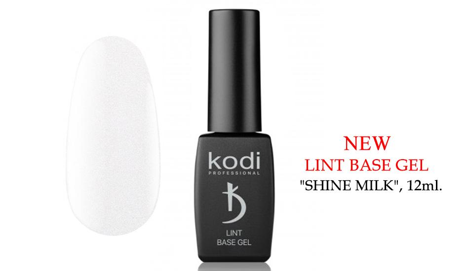 "Kodi Lint base gel ""Shine Milk"", 12ml."