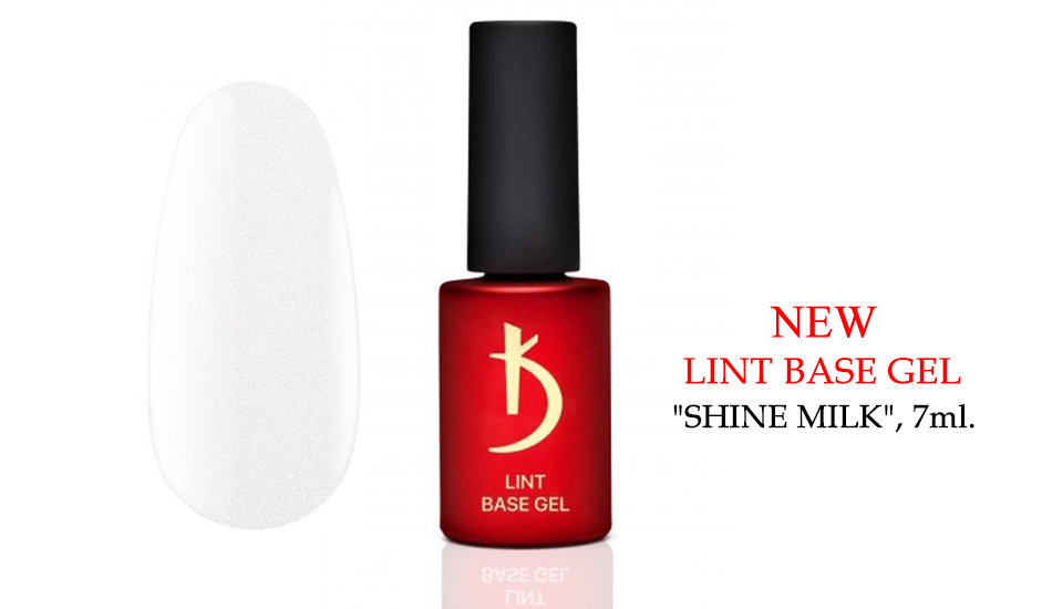 "Kodi Lint base gel ""Shine Milk"", 7ml."