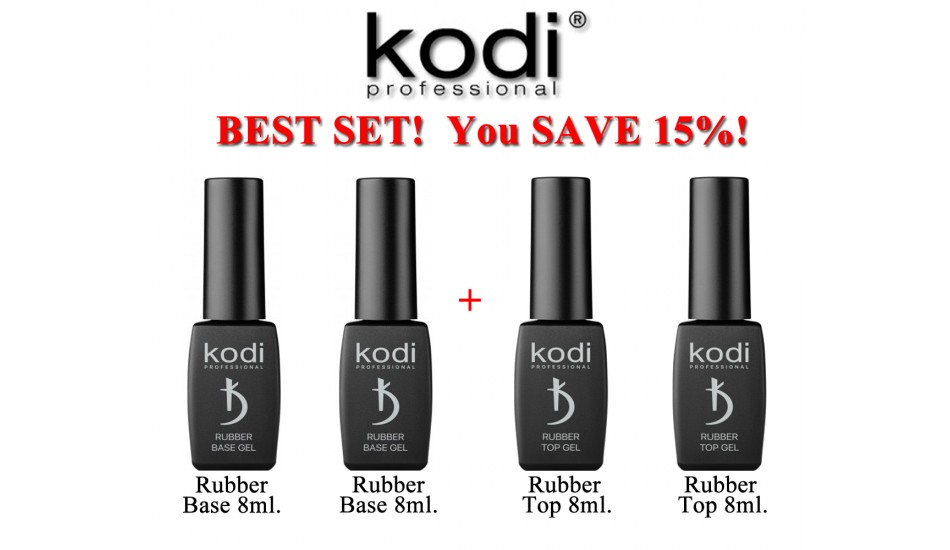 Kodi Base 8ml + Base 8ml + Top 8ml + Top 8ml