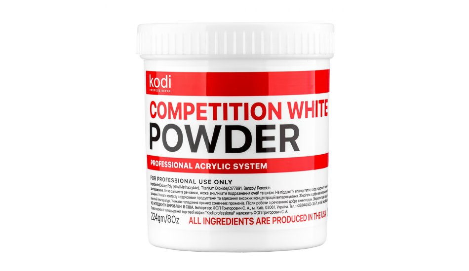 COMPETITION WHITE (COMPETITION WHITE ACRYLIC) 224 g.