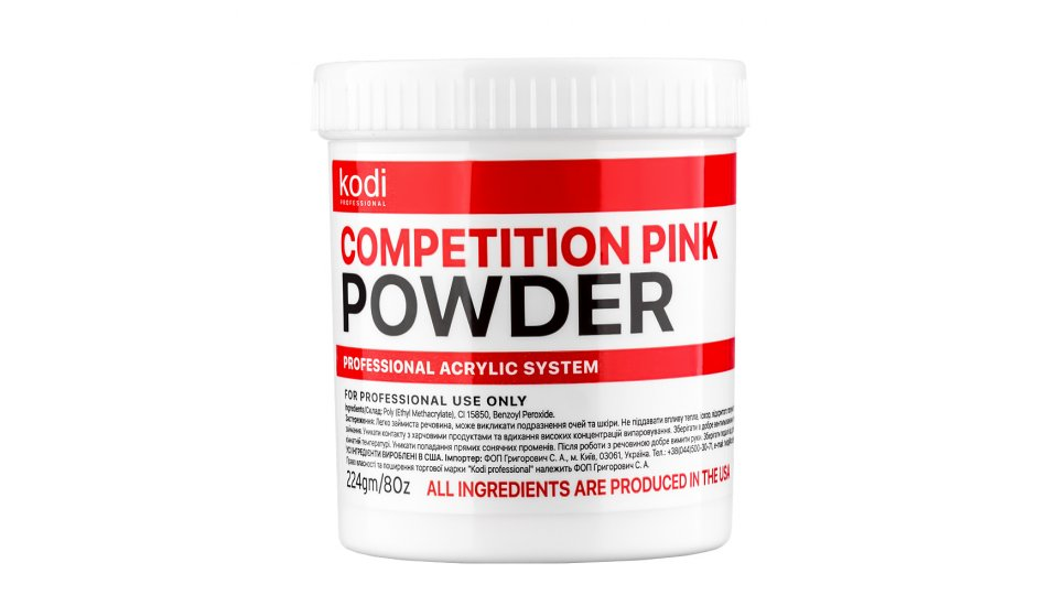 COMPETITION PINK (COMPETITION TRANSPARENT-PINK ACRYLIC) 224 g.