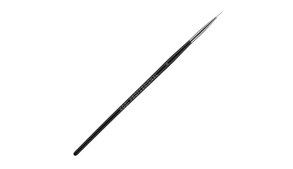 BRUSH FOR PAINTING № 0 (NYLON, WOODEN BLACK HANDLE)