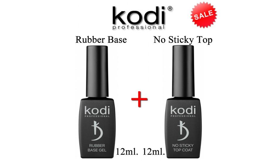 Kodi Rubber Base 12ml + No Sticky Top 12ml